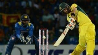 Maxwell's maiden ton rockets Australia to record-breaking 263-3 against Sri Lanka