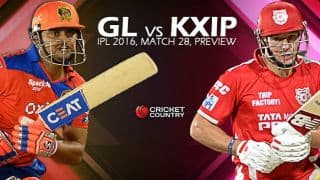 Gujarat Lions vs Kings XI Punjab, IPL 2016, Match 28 at Rajkot, Preview: GL look to thrash KXIP