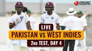 Live Cricket Score, PAK vs WI, 2nd Test, Day 4: Stumps