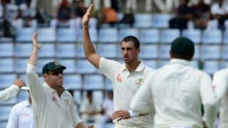 Hazlewood, Starc reduce SL to 84-5 at lunch on Day 1, 1st Test