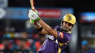 Gautam Gambhir gets off the mark, but then gets out