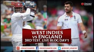 Live Cricket Score West Indies vs England 2015, 3rd Test at Barbados Day 1: England 240/7 at stumps