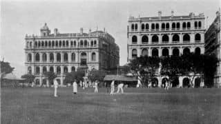1866: Hong Kong & Shanghai play first interport cricket match