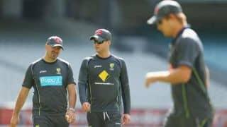 VIDEO: Michael Clarke hits Shane Watson with ball in ODI