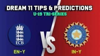Dream11 Team England U19 vs India U19, Match 12, U-19 Tri-series – Cricket Prediction Tips For Today's match EN-Y vs IN-Y at Beckenham