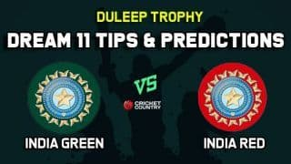 IN-G vs IN-R Dream11 Team India Green vs India Red Duleep Trophy 2019 – Cricket Prediction Tips For Today's Match at Alur