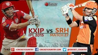 Live Cricket Score Kings XI Punjab vs Sunrisers Hyderabad, IPL 2015 KXIP 130/9 in 20 overs: SRH win by 20 runs