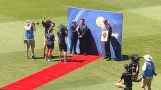 Lap of honour at the MCG for Ricky Ponting as part of ICC Hall of Fame induction