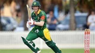 David Warner sizzles with century on return from surgery