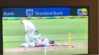 Nathan Lyon charged for AB de Villiers send-off during Durban Test