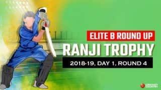 Ranji Trophy 2018-19, Elite B, Day 4, Round 1: Prashant Chopra's 110 drives Himachal Pradesh to 231/4 versus Hyderabad