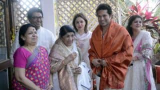 Sachin Tendulkar says he is like a son to Lata Mangeshkar