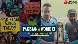 8 साल बाद पाकिस्तान में अंतर्राष्ट्रीय क्रिकेट की वापसी, वर्ल्ड इलेवन से पहला टी20 मुकाबला