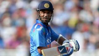 India vs England 2014, Only T20I at Edgbaston: Ajinkya Rahane dismissed by Moeen Ali
