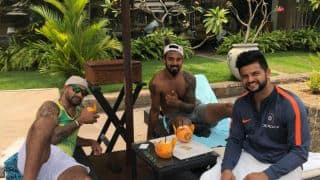 Shikhar Dhawan, KL Rahul and Suresh Raina chill after India's win over Bangladesh