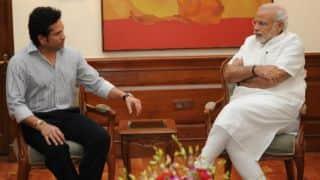 Sachin Tendulkar discusses 'Swacch Bharat Abhiyan' with PM Narendra Modi