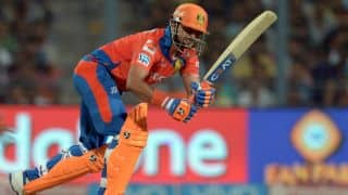Suresh Raina dismissed for 1 by Shane Watson against RCB in IPL Playoffs 2016