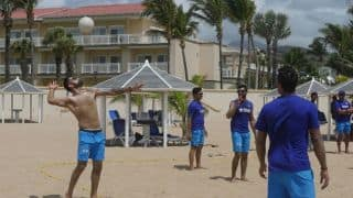 PHOTO: Virat Kohli and Co. play beach volleyball in West Indies