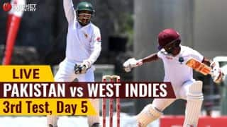 Live Cricket Score, PAK vs WI, 3rd Test, Day 5: PAK win by 101 runs