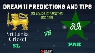 SL vs PAK Dream11 Team Sri Lanka vs Pakistan, 3rd T20I, Pakistan vs Sri Lanka T20 series – Cricket Prediction Tips For Today's Match SL vs PAK at Lahore