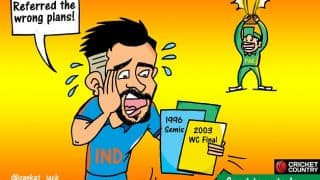 Cartoon: Champions Trophy 2017 final – Virat Kohli referred wrong plans for toss
