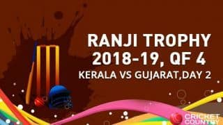 Hat-trick for Roosh Kalaraia as Kerala set Gujarat a target of 195 runs