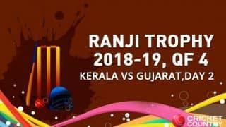 Hat-trick for Roosh Kalaraia as Kerala set Gujarat a target of 195 runs