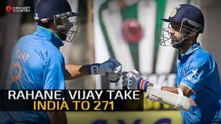 Ajinkya Rahane, Murali Vijay score fifties as India score 271/8 against Zimbabwe in 2nd ODI at Harare
