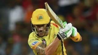 डु प्लेसिस का अर्धशतक, पंजाब के गेंदबाजों ने चेन्नई को 160 रन पर रोका