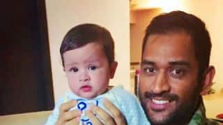 Video: It's military crawl time for MS Dhoni and baby Ziva