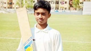 14-year-old scores unbeaten 556 in two-day fixture