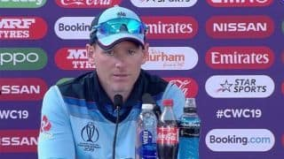 Eoin Morgan delighted with the way England played to guarantee a semi-final spot