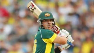 Aaron Finch's century propels Australia a mammoth 342 for nine against England at ICC Cricket World Cup 2015