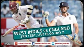 Live Cricket Score West Indies vs England 2015, 3rd Test at Barbados Day 2, ENG 39/5 in 21 overs: Visitors appear shaky at stumps