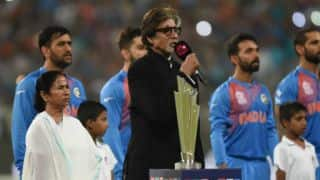 Amitabh Bachchan charged with incorrectly singing national anthem during India vs Pakistan T20 World Cup 2016 tie