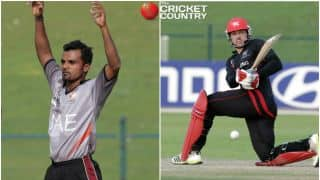 HK 307/6 in 96 Overs │ Live Cricket Score ICC Intercontinental Cup 2015-17, UAE vs Hong Kong, Day 1: Stumps