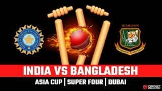 Asia Cup 2018, India vs Bangladesh, LIVE Cricket Score, Super Four, Dubai: Bangladesh lose openers early