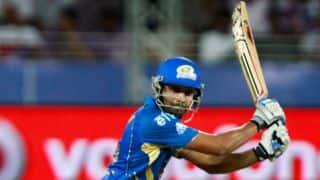 Rohit Sharma, Ambati Rayudu steady Mumbai Indians against Chennai Super Kings in IPL 2014
