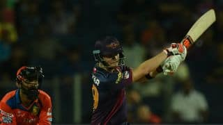 Steven Smith's 101 rockets Rising Pune Supergiants to 195 for 3 against Gujarat Lions in IPL 2016 Match 25