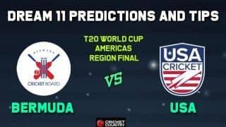 BER vs USA Dream11 Team Bermuda vs USA AMERICAS REGION FINAL-T20 ICC Men's T20 World Cup Americas Region Final – Cricket Prediction Tips For Today's T20 Match at Sandys Parish