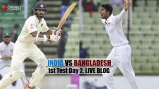 Live Cricket Score, India vs Bangladesh 2015, one-off Test at Fatullah, Day 2: Play called off