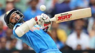 Shikhar Dhawan dismissed for 137 by Wayne Parnell against South Africa in ICC Cricket World Cup 2015