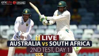 LIVE Cricket Score, Australia vs South Africa, 2nd Test, Day 1 at Hobart: STUMPS