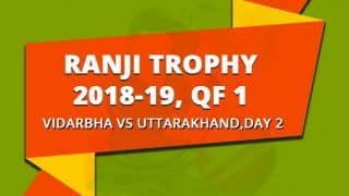 Ranji Trophy 2018-19, Quarter-final 1, Day 2: Centuries by Wasim Jaffer, Sanjay Ramaswamy put Vidarbha in command versus Uttarakhand
