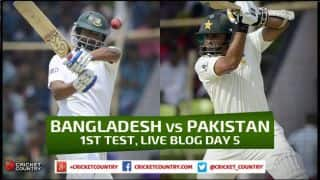 Live Cricket Score, Bangladesh vs Pakistan 2015, 1st Test at Khulna, Day 5: Bangladesh 555/6 in 136 Overs as match is drawn