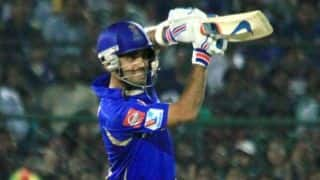 Rajasthan Royals open their IPL 2014 campaign with a nervy 4-wicket over Sunrisers Hyderabad