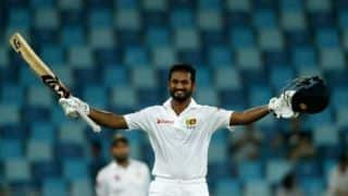 Dimuth Karunaratne becomes 4th Sri Lankan to carry bat through a complete innings
