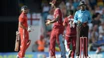 Ravi Bopara, Darren Sammy, Marlon Samuels fined for breach of ICC's code of conduct during 1st T20I
