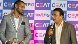 Shikhar Dhawan wins CEAT ODI Player of the Year 2014