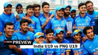 ICC U19 World Cup: India look to thrash Papua New Guinea after conquering Australia challenge